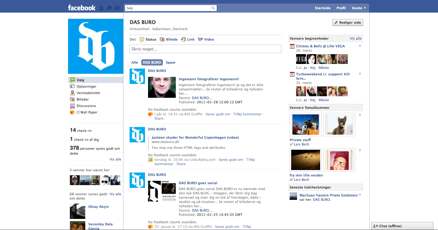 Das Büro Facebook