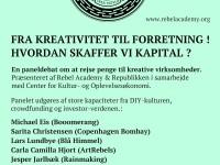 rebel_academy_republikken - FRA KREATIVITET TIL FORRETNING – HVORDAN SKAFFER VI KAPITAL ?
